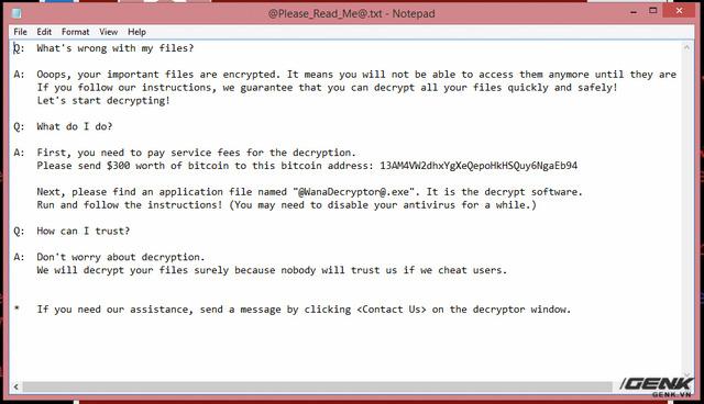 Muốn biết máy dính ransomware WannaCry trông như thế nào? Chúng tôi đã quay video thực tế cho bạn xem! - Ảnh 6.