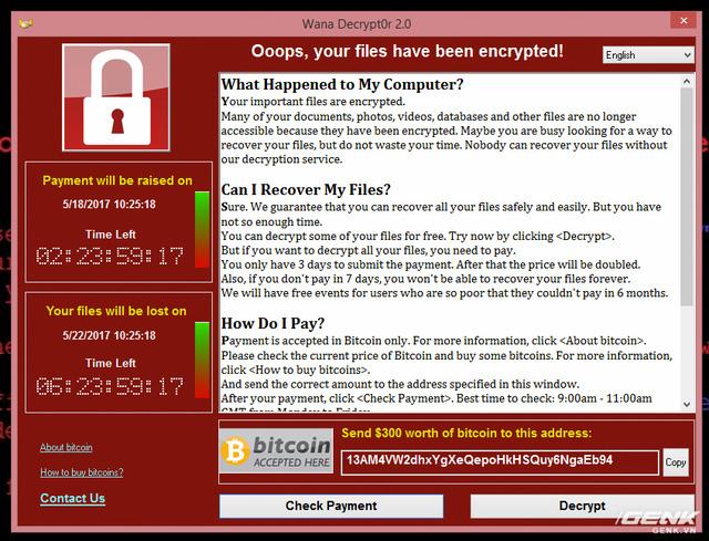 Muốn biết máy dính ransomware WannaCry trông như thế nào? Chúng tôi đã quay video thực tế cho bạn xem! - Ảnh 8.