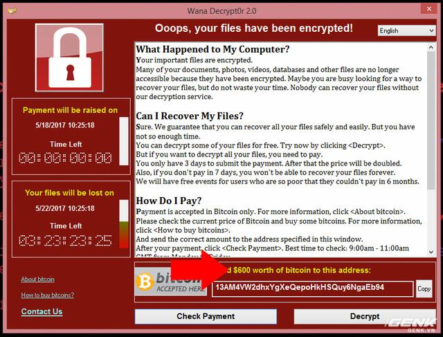 Muốn biết máy dính ransomware WannaCry trông như thế nào? Chúng tôi đã quay video thực tế cho bạn xem! - Ảnh 9.